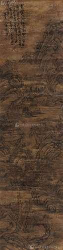 张瑞图(1570~1644) 春山溪水 立轴 水墨纸本