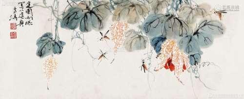 王雪涛(1903-1982) 迟园小景 镜心 设色纸本