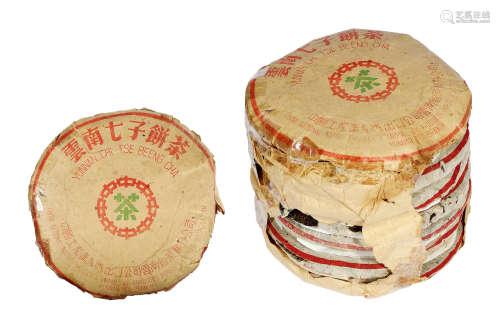 約六十年代末 認真配方黃印青餅