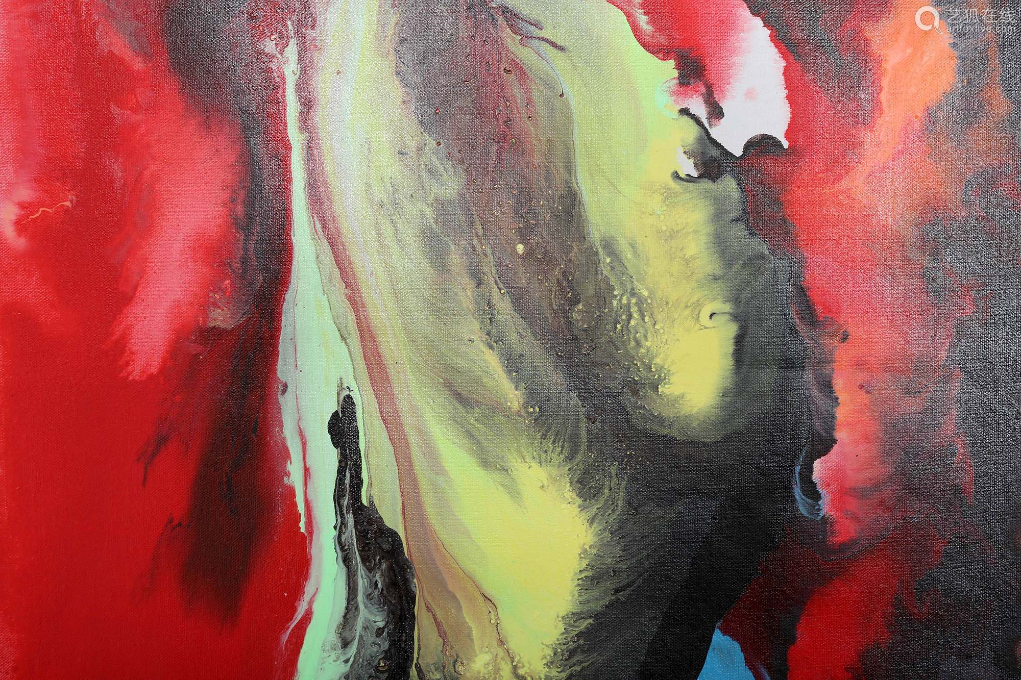 OIL ON CANVAS, SIGNED BY QIU YAN, UNFRAMED.OH033.