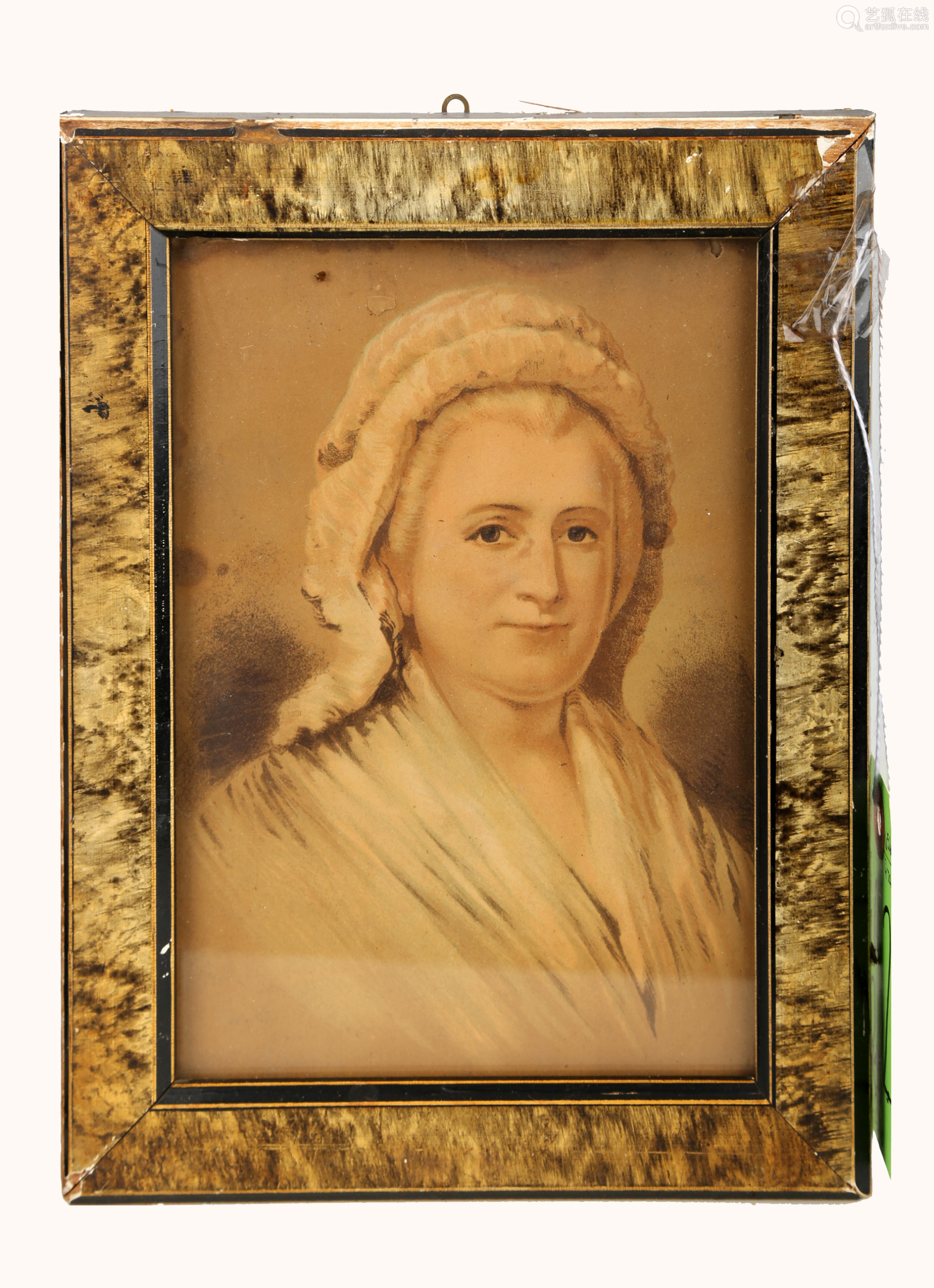 (2)  TWO HAND-COLORED LITHOGRAPHS OF GEORGE AND MARTHA WASHINGTON.OH028