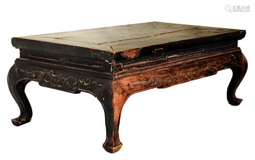 A HUANGHUALIi OR HONGMU   SQUARE KANG TABLE.M006. China.19th century or earlier, Qing dynasty.