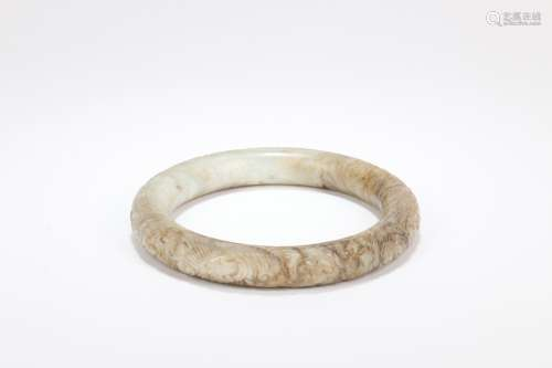 A Chinese Carved Jade Bracelet