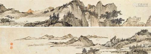 溥儒(1896~1963) 溪山萧寺 镜心 设色纸本