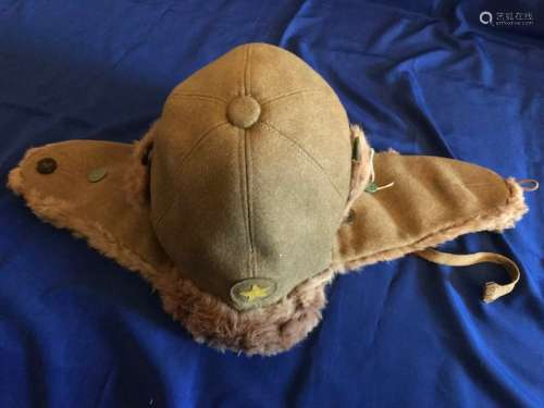 WW2 Japanese cold weather winter cap