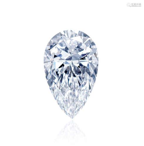 10.53克拉IIA型梨形切割天然D色内外无瑕全美钻石