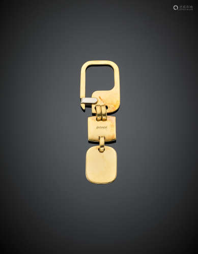 BARAKA'Bi -coloured gold key ring, g 23.10, length cm 7.80 circa.