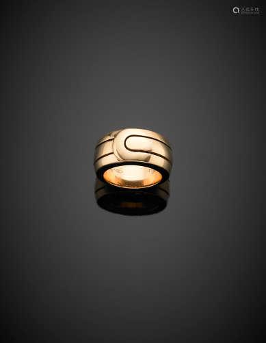 DI MODOLORed gold band ring, g 17.91 size 15.5/55.5. Signed DI MODOLO In original box