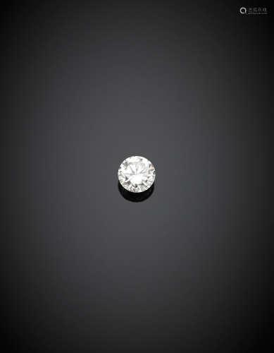 Round brilliant cut ct. 0.50 diamond , J colour, VVS1.Appended diamond report CISGEM n. 7387IAAB 22/09/2017, Milano