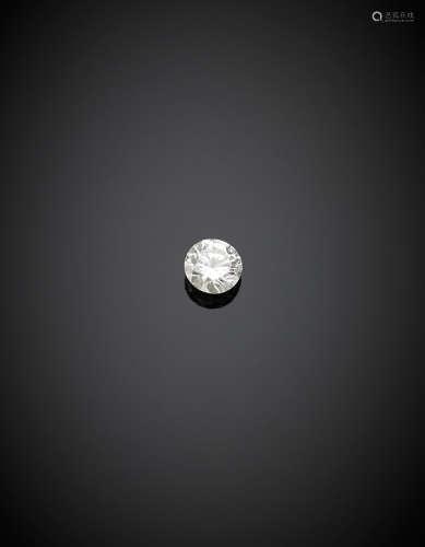 Round brilliant cut ct. 0.52 diamond, I colour, VVS1.Appended diamond report CISGEM n. 7393IAAB 22/09/2017, Milano