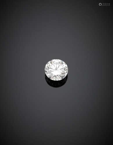 Round brilliant cut ct. 1.09 diamond, E colour, VVS1.Appended diamond report CISGEM n. 7398IAA 22/09/2017, Milano