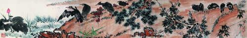 潘天寿 1897-1971 花鸟 纸本手卷