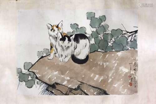 徐悲鸿 双猫