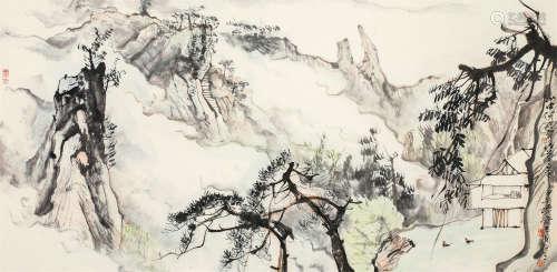 陈玉圃(b.1946) 山居图 镜心 设色纸本