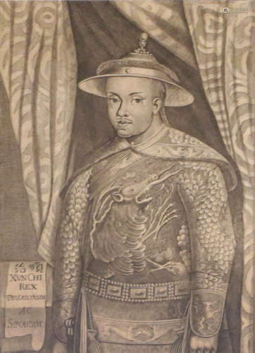 AN ETCHING DEPICTING A DIGNITARY