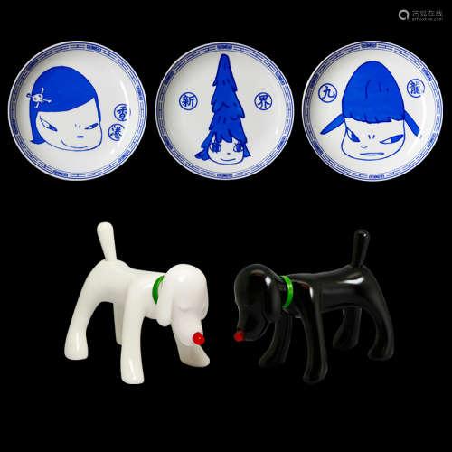 奈良美智(b.1959)磁盘狗(黑+白)SHINNING DOGGY