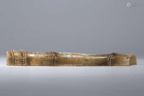 瓷竹型镇尺