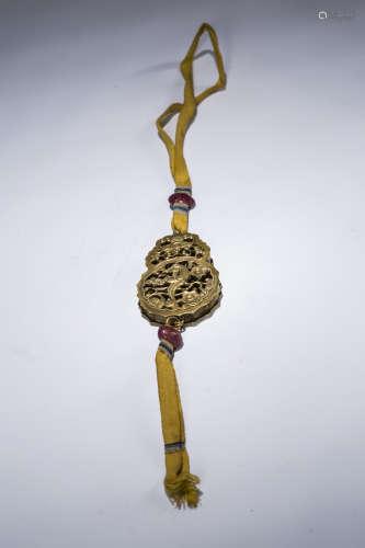 铜鎏金香囊