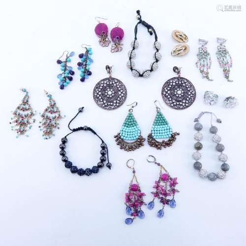 Collection of Twelve (12) Pieces Costume Jewelry.