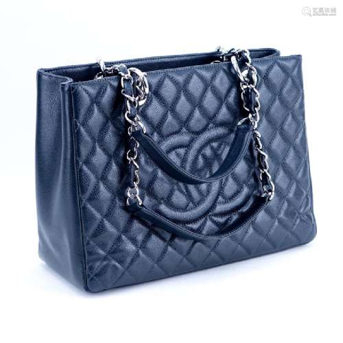 Chanel Dark Grey Quilted Leather Grand Shopper 30 CM