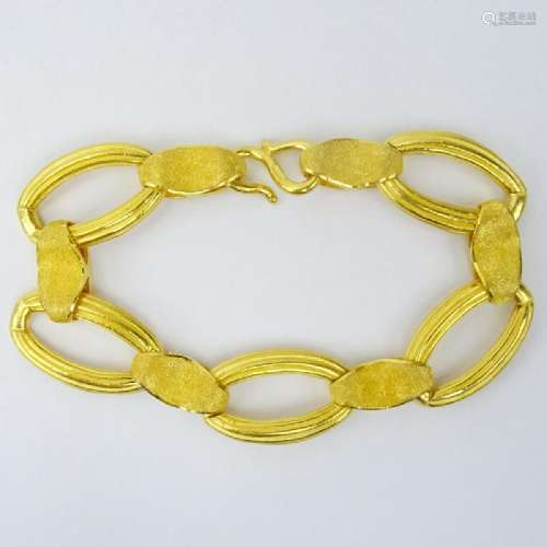 Vintage 24 Karat Fine Yellow Gold Link Bracelet.