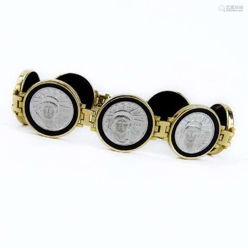 Vintage 14 Karat Yellow Gold, 2001 Platinum Liberty