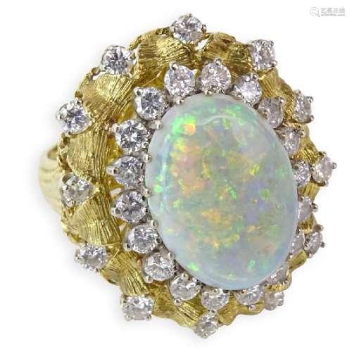 Vintage Approx. 5.20 Carat Oval Cabochon Opal, 1.75
