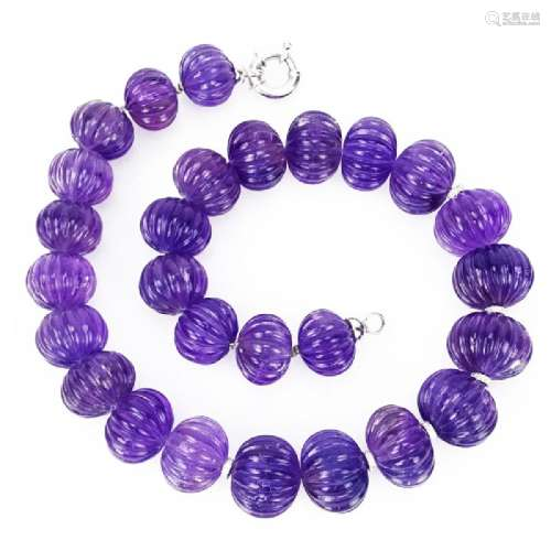 Lady's Vintage Approx. 400.0 Carat Carved Amethyst Bead