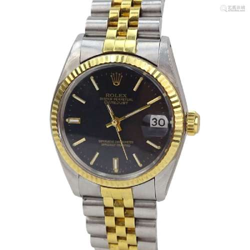 Vintage Rolex Datejust 18K Yellow Gold and Stainless