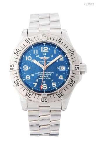 Breitling Stainless Steel SuperOcean Wristwatch Model