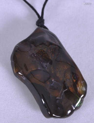 Slaughter Mountain, Arizona, fire agate pendant