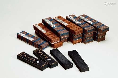 80年代上海墨厂制黄山松烟墨 (十五锭)
