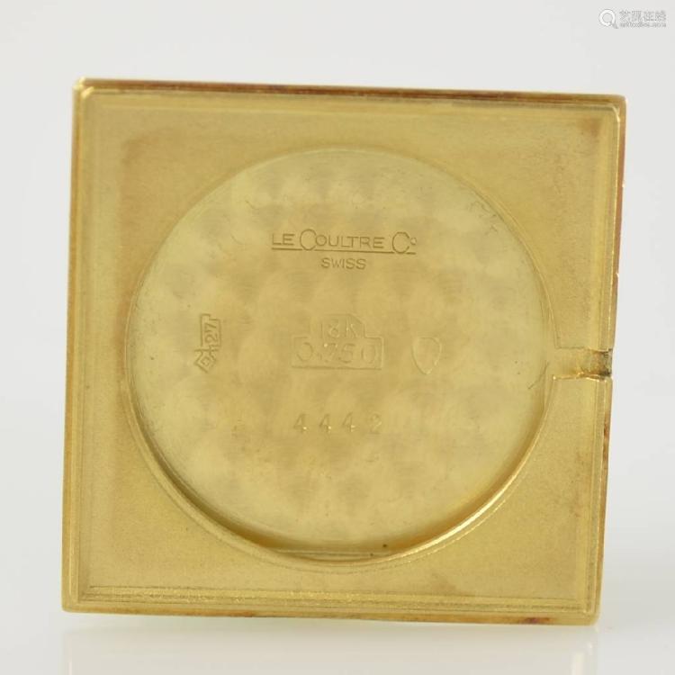 Jaeger-LeCoultre 18k yellow gold wristwatch