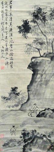 徐渭 古代 山水人物 纸本立轴
