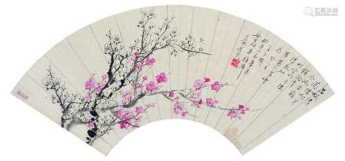 金心兰 古代 梅花 纸本镜框