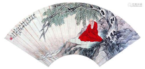 墨农 古代 天星寿佛 纸本镜框