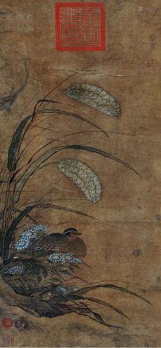 佚名 古代 花鸟 纸本立轴