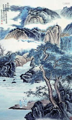吴湖帆 近现代 山水 纸本立轴