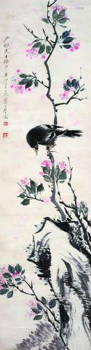 江寒汀 近现代 花鸟 纸本立轴