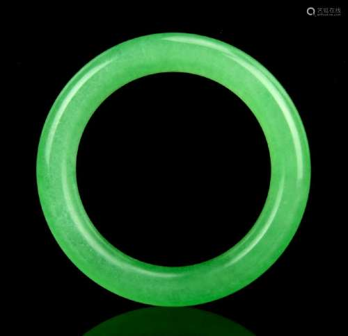 Emerald Green Jadeite Bangle