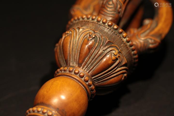 Chinese Huangyang Wood Buddhism Talisman