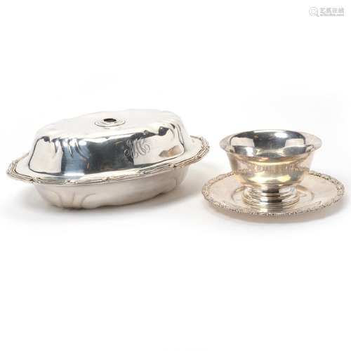 Lot of Silver: including a covered dish [Lacking