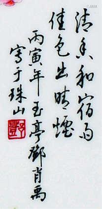 邓肖禹 20世纪 花鸟绣球盘