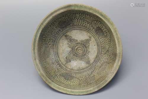 Antique Thai Sawankhalok Blue and White Bowl, ca. 16 th