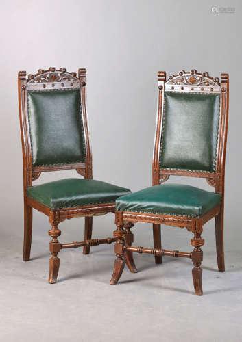 2 Gründerzeit-Stühle, Historismus, ...