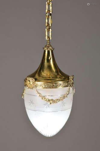 Deckenlampe, wohl deutsch,um 1900, ...