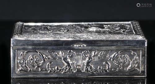 英国回流高浮雕银质盒