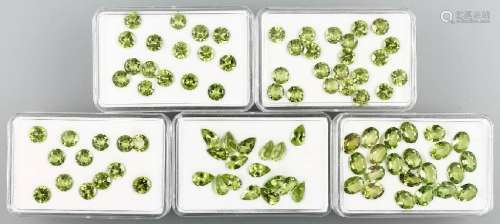 Lot loose peridots