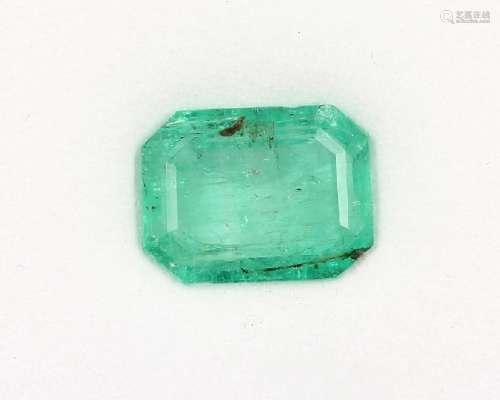 Loose bevelled emerald in Emerald Cut approx. 10.30 ct