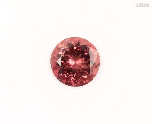 Loose rosecoloured tourmaline approx. 3.61 ct,round bevelled